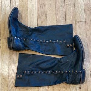 Nine West vintage black leather boots 8